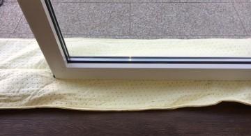 Wasserschutzschlauch für Eingagstüren oder Garagentore - Doppelte Absicherung - Der Schlauch wird mittig Platziert