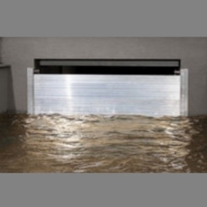 Flood protection garage door