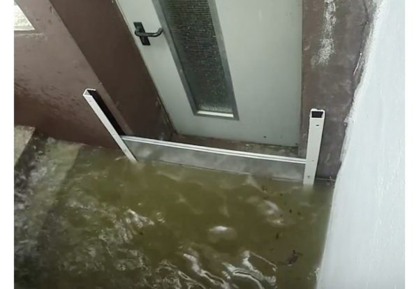 Flood protection basement door